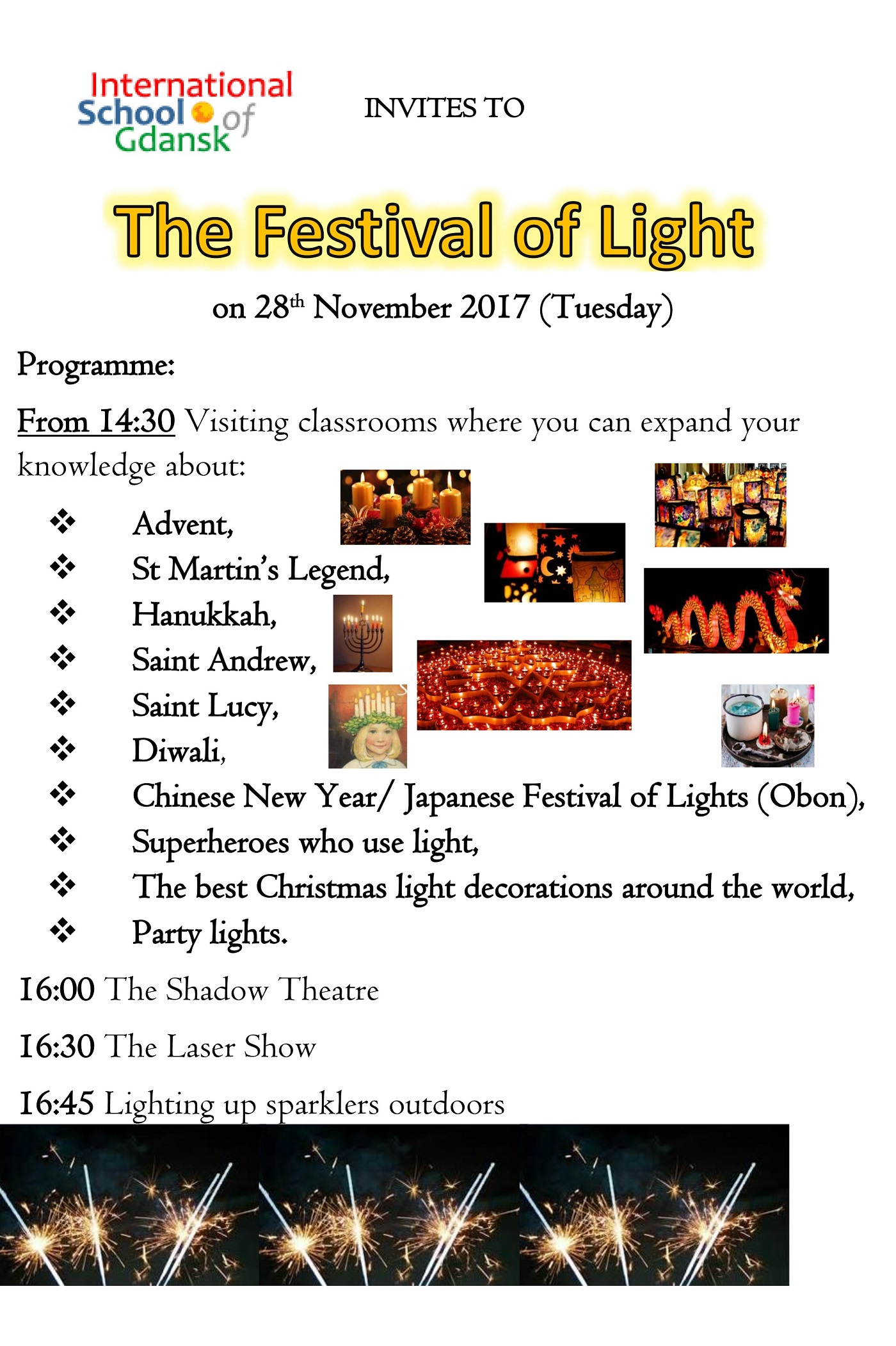 Festival of Light invitation